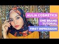 One Brand Makeup Tutorial Aulia Cosmetics + FIRST IMPRESSION!