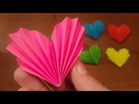 How To Make a Easy Paper Heart IN 3 MINUTES!