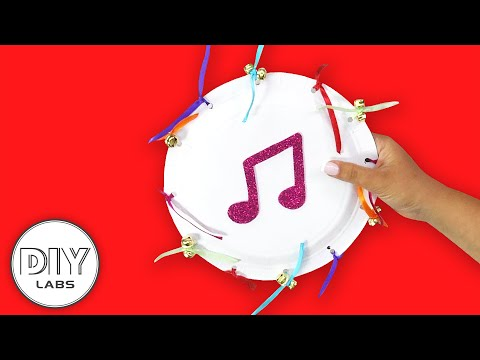 TAMBOURINE | Musical Instrument | Paper Plate Craft | Fast-n-Easy | DIY Labs