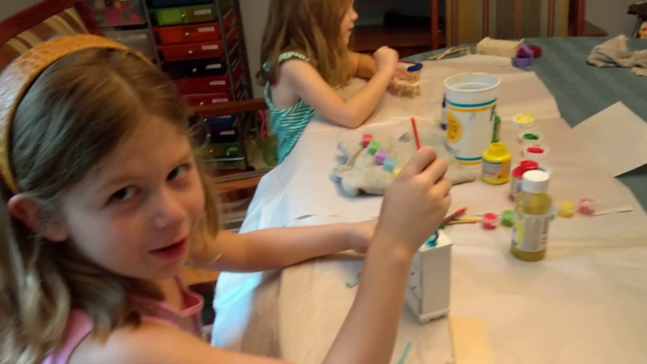 Painting Dollhouse Furniture