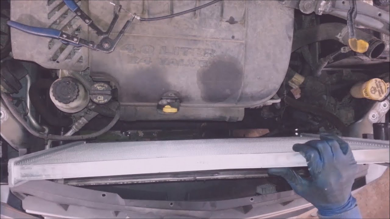 hight resolution of 2007 2008 chrysler pacifica radiator replacement
