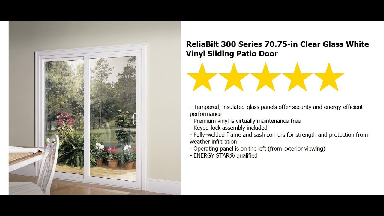 Patio Door Installation Reliabilt Series 300 Sliding 6 Ft Rb Vinyl You
