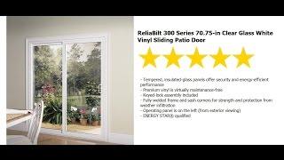 patio door installation reliabilt series 300 sliding 6 ft rb vinyl patio door