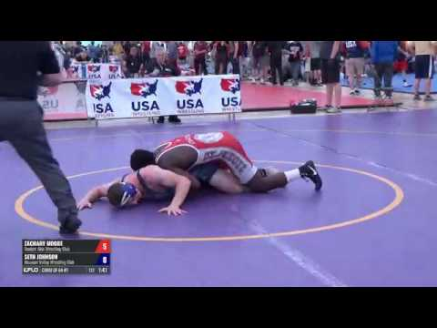 70 Consi of 64 #1 - Zachary Moore (Sunkist Kids WC) vs. Seth Johnson (Missouri Valley WC)