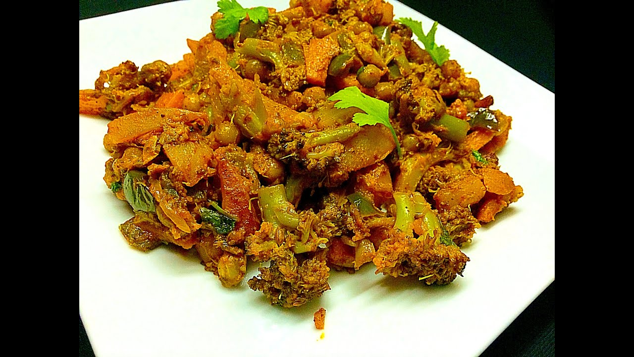 Broccoli Mixed Vegetable Masala Youtube