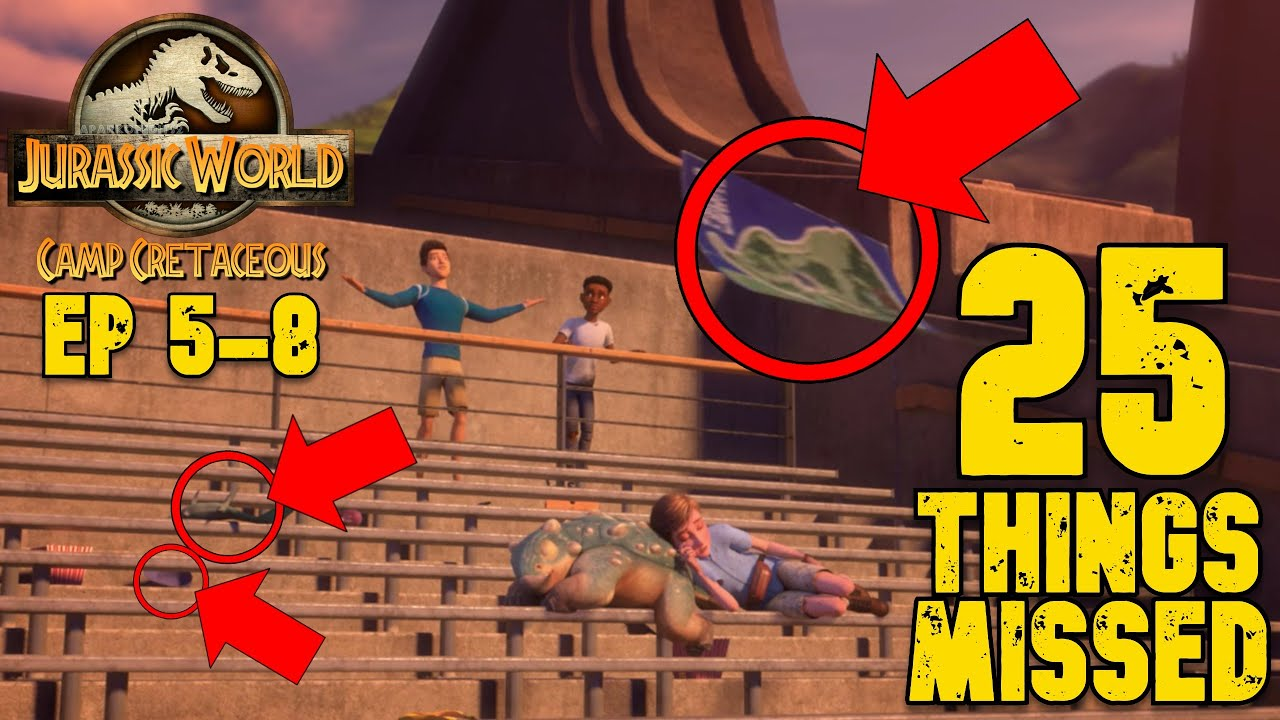 Download Jurassic World: Camp Cretaceous | 25 References and Details MISSED in Episodes 5 - 8