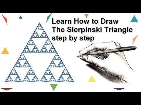Mathematics Fractals : Learn How to Draw The Sierpinski Triangle | step by step