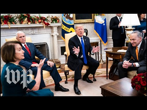 Watch the full, on-camera shouting match between Trump, Pelosi and Schumer