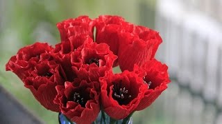 Hướng dẫn làm hoa tulip bằng giấy nhún