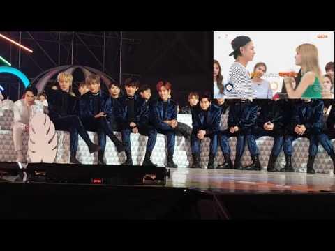 161119 EXO And Seventeen React To Netizen Choice Award VCR @ Melon Music Award