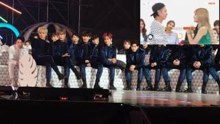 161119 EXO and Seventeen react to Netizen Choice award VCR @ Melon Music Award