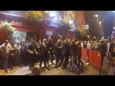 Halloween - Fight In the temple bar Street - Dublin