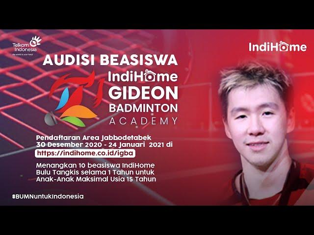 Beasiswa IndiHome Gideon Badminton Academy