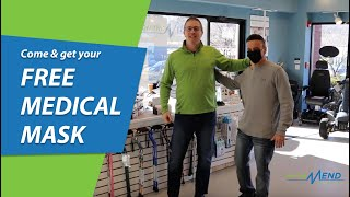 Come and get your FREE MEDICAL MASK at On The Mend Medical Supplies & Equipment