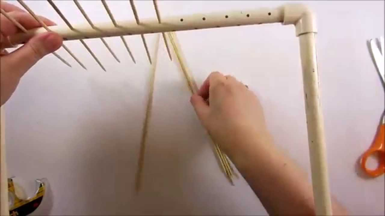 How To Make A Paper Bead Drying Rack With Pvc Pipe Youtube