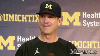 Jim Harbaugh talks penalties heading into Nebraska week