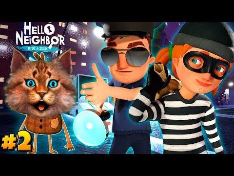 Весёлый Кот играет в ПРИВЕТ СОСЕД ПРЯТКИ 2 АКТ Hello Neighbor Hide And Seek