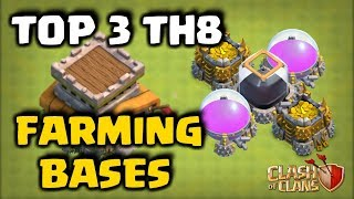 TOP 3 BEST TH8 Farming Base 2017 | CoC NEW Town Hall 8 Best Defense [TH8 2017] | Clash of Clans