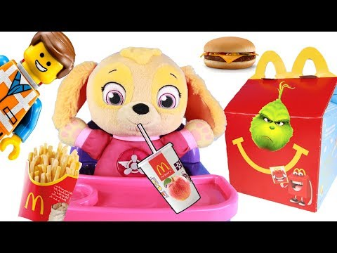 Paw Patrol Skye Happy Meal at McDonald's with The Lego Movie 2 Toys