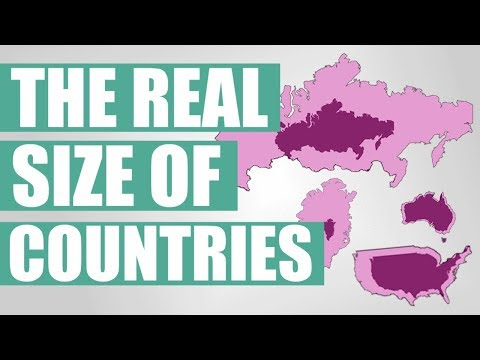 The Real Size Of Countries