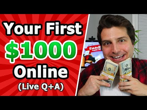 Your First $1000/m Online Business - Live @8PM EST. $100 in Cash Giveaways