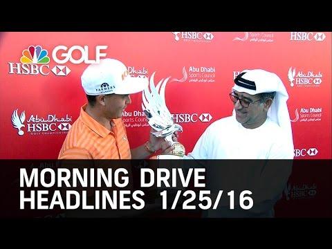 Morning Drive Headlines 1/25/16 | Golf Channel