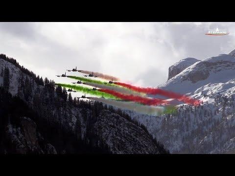 Frecce Tricolori Sorvolo Ski World Cup 2017  Alta Badia