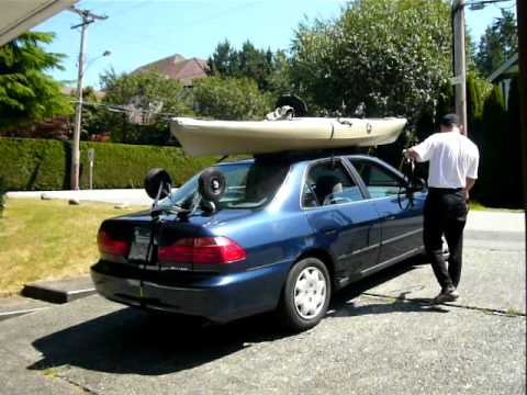 How To Load A Fishing Kayak Onto A Sedan Without A Youtube