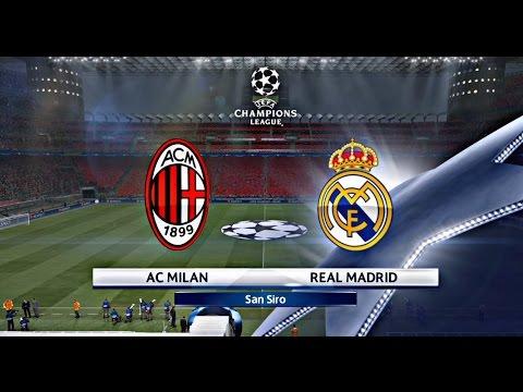 REAL MADRID VS AC MILAN!!! CUARTOS DE FINAL UEFA CHAMPIONS LEAGUE ...