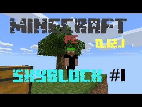 Minecraft pe 0.12.1 sky block multi interactive #1
