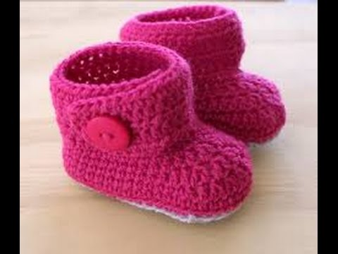 Como bordar escarpines patines patucos para beb for Cosas de ganchillo faciles