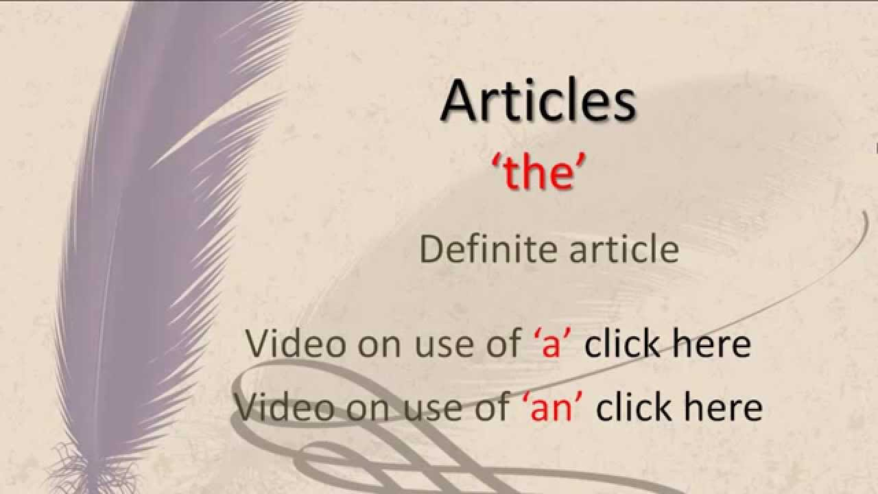 Indefinite article in English: rules of use, examples 73
