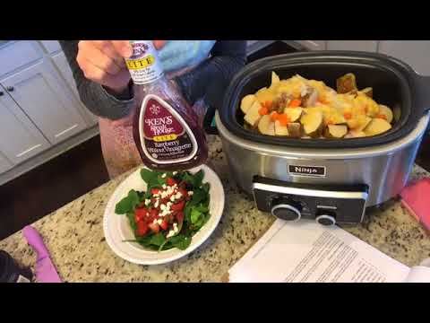 SUNDAY CHICKEN DINNER IN THE SLOW COOKER + SALAD!!!