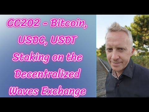 CC202 - Bitcoin, USDC, USDT Staking on the Decentralized Waves Exchange