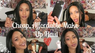 CHEAP & AFFORDABLE MAKEUP/ACCESSORIES HAUL (e.l.f., NYX, LA Girl Pro, LuMee phone case)