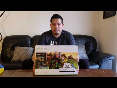 New Xbox One S Minecraft Bundle - 1TB (Unboxing And Setup)