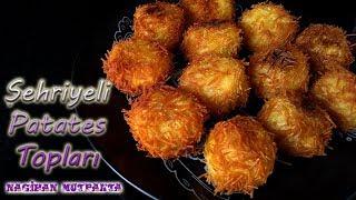Zapętlaj Tel Şehriye Kaplı Çıtır Patates Topları-Çıtır Patates Topları Tarif- Aperatif Tarifler- | Nagihan Mutfakta