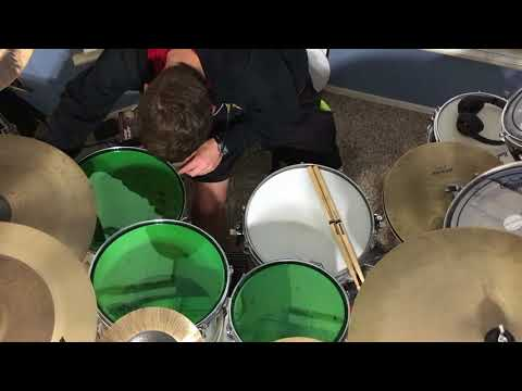 Playing on my new Remo Colortone drum heads