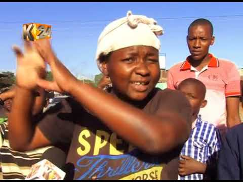 Residents of Dandora protest over leaking sewerage line