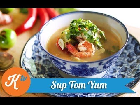 Resep Sup Tom Yum Goong (Tom Yum Goong Soup Recipe Video ...