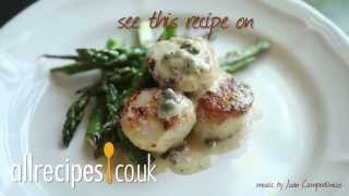 Scallops in pesto cream sauce video recipe