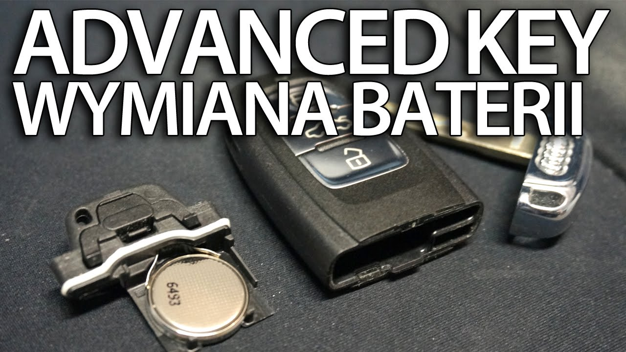 Wymiana baterii pilota Audi Advanced Key (keyless 2032) A1 A3 A4 A5 A6 A7 A8 Q3 Q5 Q7 - YouTube