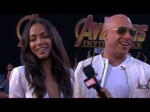 Vin Diesel Zoe Saldana Interview - Avengers Infinity War World Premiere Red Carpet