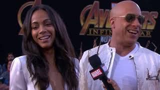 Vin Diesel Zoe Saldana Interview - Avengers Infinity War World Premiere Red Carpet