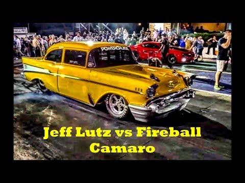 Jeff Lutz vs Fireball Camaro at the Memphis Street Outlaws No Prep