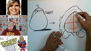 How To Draw Caricatures | Female Round Faces