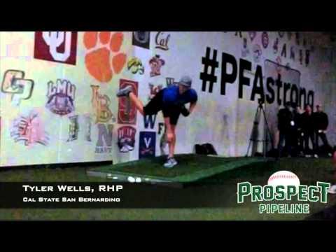 Tyler Wells, RHP, Cal State San Bernardino, Pitching Mechanics at 200 FPS