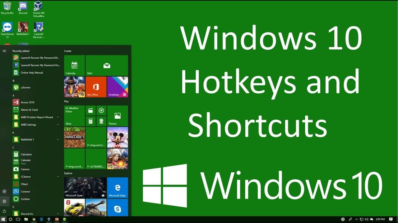 how to turn on hotkeys windows 10