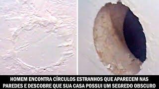 Homem encontra círculos estranhos que aparecem nas paredes e descobre que sua casa possui um segredo