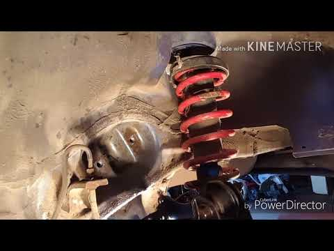 How to remove and inspect Honda or Acura rear coilovers or struts